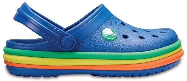 Kids Crocband™ Rainbow Band Clogs
