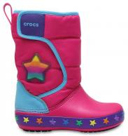 Kids CrocsLights LodgePoint Star Boot