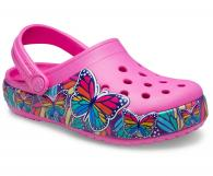 Kids Crocs Fun Lab Multi-Butterfly Band Lights Clog