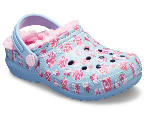 Kids Classic Fuzz-Lined Graphic Clog