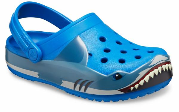 Kids Crocs Fun Lab Shark Band Clog