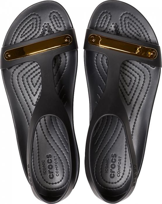 Womens Crocs Serena Metallic Bar Sandal