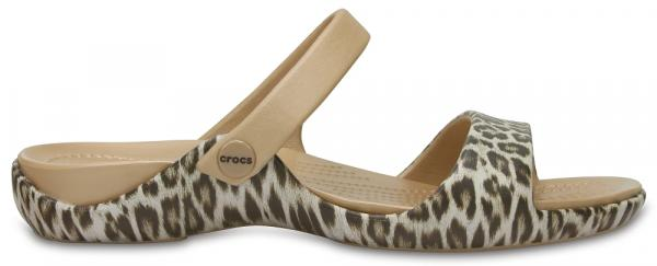 Womens Cleo V Graphic Sandals