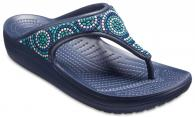 Womens Crocs Sloane Beaded Flips