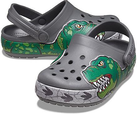 Kids Crocs Fun Lab Dino Band Lights Clog