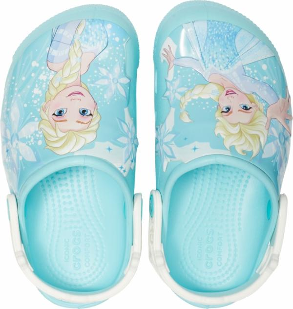 Kids' Crocs Fun Lab Frozen Elsa Lights Clog